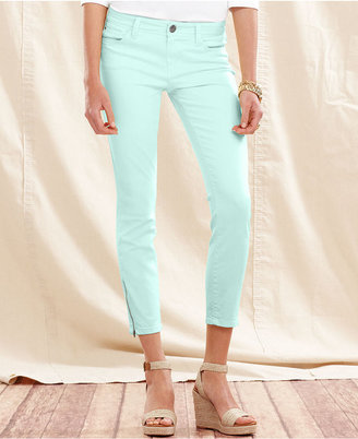 Tommy Hilfiger Jeans, Skinny-Leg Cropped, Neptune Green Wash