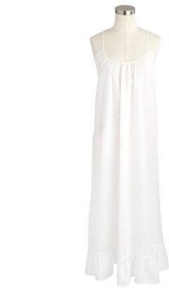 J.Crew Sheer cotton cross-back sundress