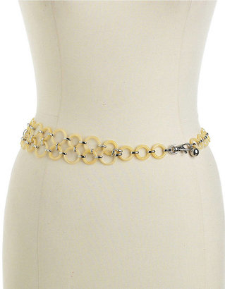 Anne Klein Linked-Ring Chain Belt