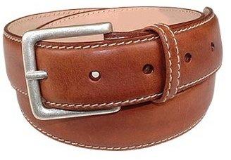 Manieri Cognac Smooth Leather Belt