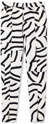 Tibi Zebra Maze Slim Pant