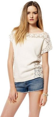 Juicy Couture Crochet Rhinsetone Pullover
