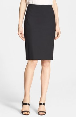 Women's Theory Stretch Wool Pencil Skirt $215 thestylecure.com