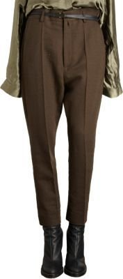 Haider Ackermann Pleated Cropped Trousers