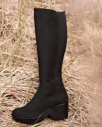 Donald J Pliner Nadja Tall Stretch Crepe Boot, Black