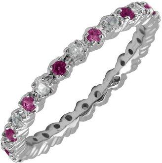 Simply Stacks Sterling Rhodolite Garnet & Diamond Stack Ring