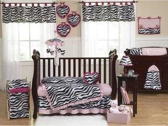 JoJo Designs Sweet Funky Zebra Crib Bedding Collection in Pink