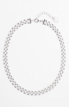Anne Klein Thin Lattice Link Collar Necklace