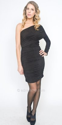 eDressMe Suede One Shoulder Day-to-Night Dresses