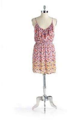 Eight Sixty Printed Ruffle Dress
