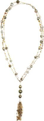 Sidney Garber Diamond & Pearl Full Spectrum Necklace