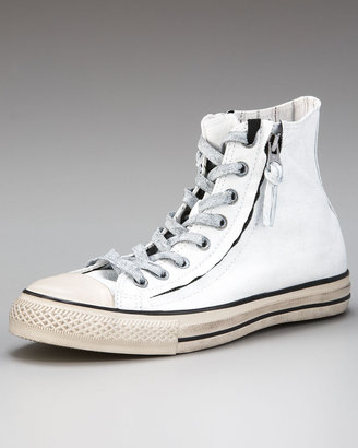 Converse by John Varvatos All Star Double-Zip Hi-Top Sneaker, White