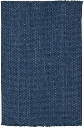 Capel Area Rug, Hampton Flatweave 0404-400 Denim 2' x 3'