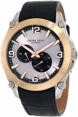 Pierre Petit Men's P-804B Serie Le Mans Automatic Rose-Gold PVD Genuine Leather Watch
