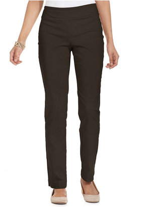 Charter Club Petite Pants, Tummy Slim-It-Up Straight-Leg Pull-On