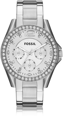 Fossil Riley Multifunction Silver Stainless Steel Women's Watch $115 thestylecure.com