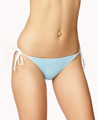 Forever 21 Crocheted Self-Tie Bikini Bottoms