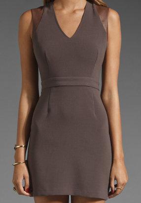 BB Dakota Summer Leather Trimmed Dress