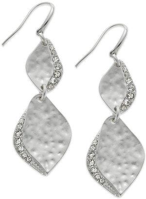 Alfani Earrings, Silver-Tone Crystal Teardrop Earrings