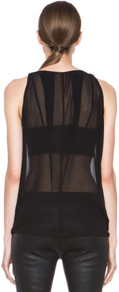 Helmut Lang Ghost Silk Tank in Black