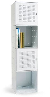 Container Store Steel Cube Tower White Enamel