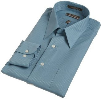 Van Heusen Men's Fitted Long Sleeve Wrinkle Free Satin Stripe Shirt