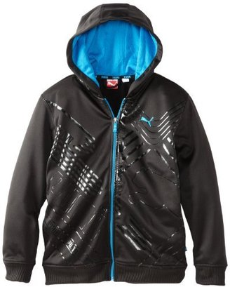 Puma Kids Boys 8-20 Printed Hooded Ply Fleece Jacket