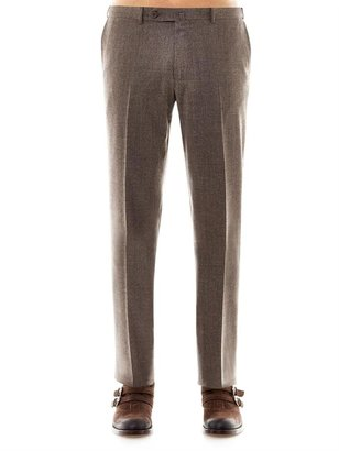 Zegna Micro-check tailored trousers