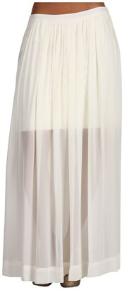 Vince Camuto St. Tropez Knit Underlay Maxi Skirt (Ivory Cream) - Apparel