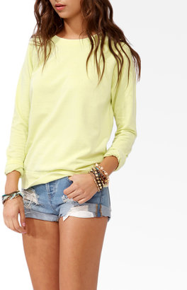 Forever 21 French Terry Burnout Pullover