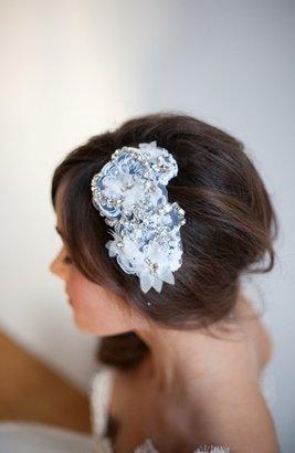Nordstrom Serephine 'Eloise' Rhinestone & Lace Bridal Comb