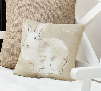 Pottery Barn Watercolor Bunny Pillow