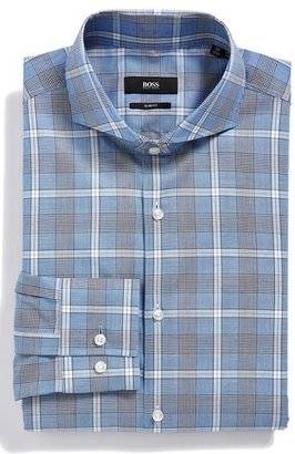 HUGO BOSS 'Dwayne' WW Slim Fit Plaid Dress Shirt