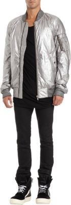 Rick Owens Bomber Jacket in Silver