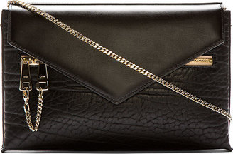 Chloé Black Textured Leather Pochette Cassie Bag