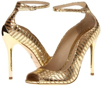 Brian Atwood Leida (Black Satin) - Footwear