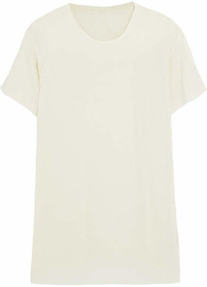 The Elder Statesman Favorite Cashmere And Silk-blend T-shirt - White