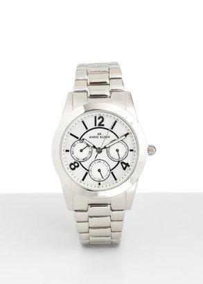 Anne Klein Slivertone Link Bracelet Watch