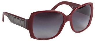 Burberry burgundy acrylic oversized square sunglasses