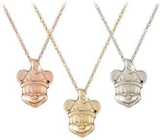 Disney Diamond Sorcerer Mickey Mouse Necklace 18 Karat