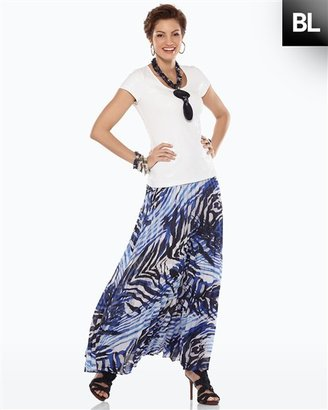 Chico's Black Label Printed Pleat Skirt