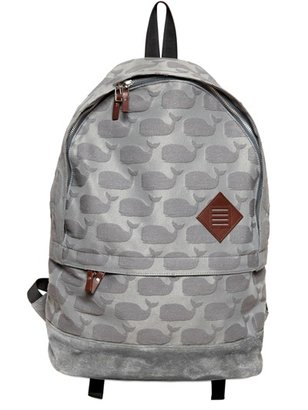 Thom Browne Whales Jacquard Cotton Canvas Backpack