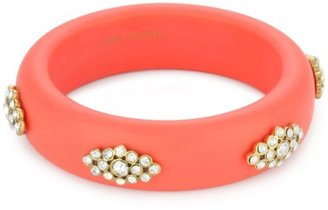 """Juicy Couture Endless Summer """" Coral Glitz Stone Cluster Bangle Bracelet"""