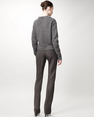 Stella McCartney Straight-Leg Pants, Ash Gray