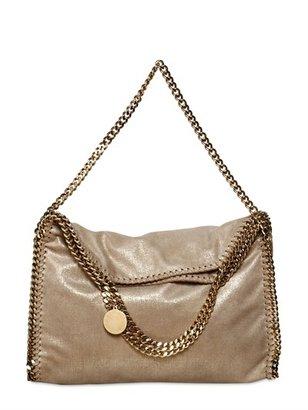 Stella McCartney Falabella Gold Chain Faux Suede Bag