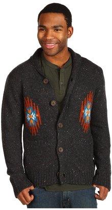 Obey Native Shawl Collar Cardigan (Heather Charcoal) - Apparel