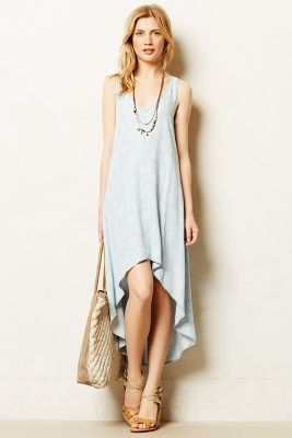 Anthropologie Cloth & Stone Chambray Maxi Dress