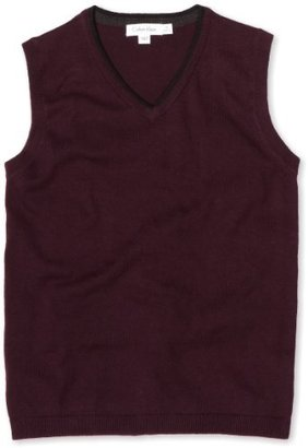 Calvin Klein Boys 8-20 Solid Sweater Vest