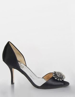 Badgley Mischka Lacie Embellished Satin Pumps