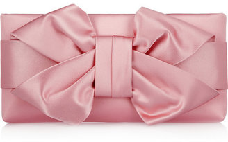 Valentino Bow silk-satin clutch